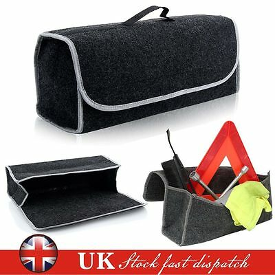 Car Van Grey Carpet Boot Storage Bag Organiser Tools Breakdown Travel Tidy Large
