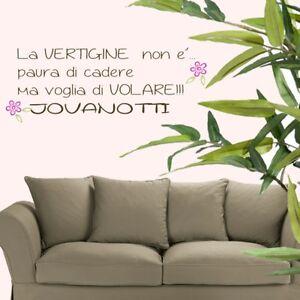 Wall stickers adesivo frase casa decorazione house - Jovanotti affacciati alla finestra ...