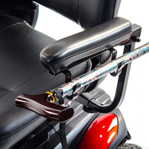Cane Holder Clips 2-pcs /1-pair For Most Pride, Golden Electric Mobility Scooter