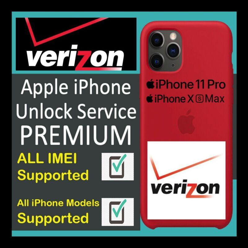 VERIZON USA ALL IPHONE PREMIUM UNLOCK SERVICE 11 Pro Max 11 Pro XS XS Max XR X 8