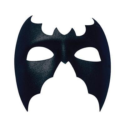 Einfach Schwarz Fledermaus Maske Superheld Kostüm Maskerade Man Halloween L