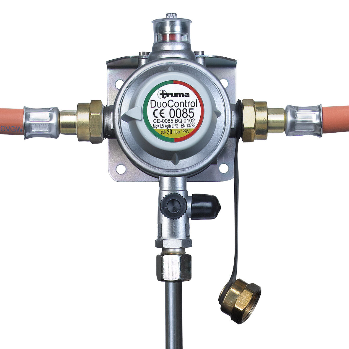 Truma DuoControl Duomatic Gasdruckregler  30mbar inkl 2 Hochdruckschläuche