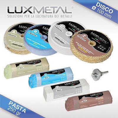 Kit Lucidatura lucidare alluminio acciaio ottone rame cromatura ossidato argento