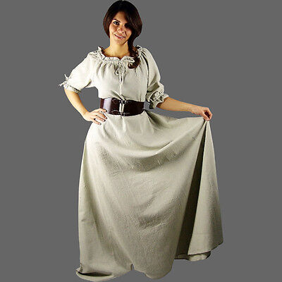 ommer Kleid kurzarm Mittelalterkleid kurzärmelig in 5 Farben (Kurze Mittelalter-kleid)