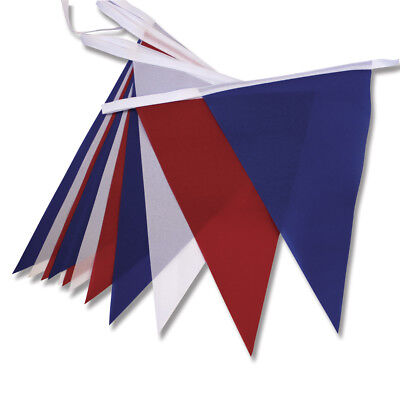 Red White and Blue Bunting Polyester FABRIC 8.6 metres 20 Pennents Royal Wedding (Red White And Blue Bunting)