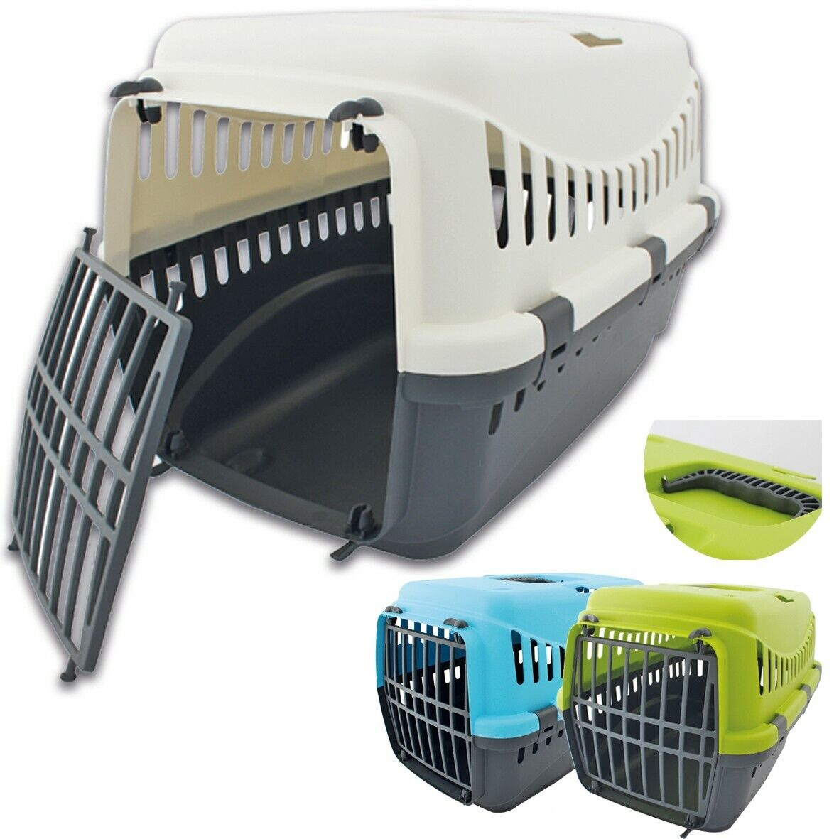Transportbox für kleine Hunde Katzen Kleintiere oder Kaninchen Meerschweinchen