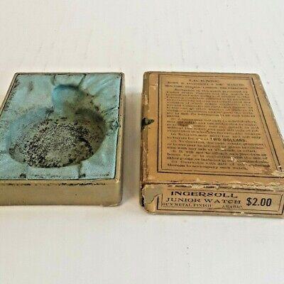 Vintage Ingersoll Junior Pocket Watch Box 1901 Antique - No Watch / Box Only