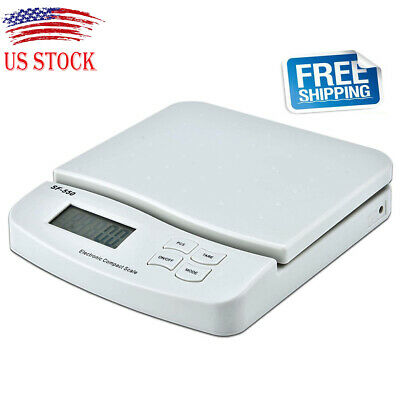 55lb X 0.01lb Digital Kitchen Scales Packaging Shipping Postal Scale 25kg1g Lcd