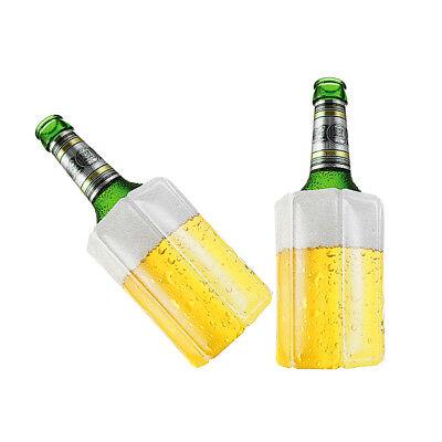 2 Stk Bier Wein Kühlmanschette Bierkühler Flaschenkühler Getränkekühler