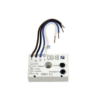 Nachlaufrelais Timer Zeitschalter f. Ventilator Lüfter 230V elektronisch CS3-1B