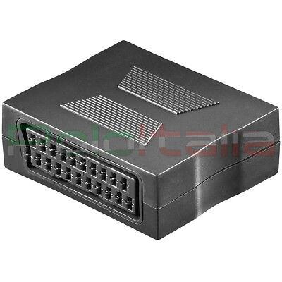 Adaptador Alargo Cable Euroconector Hembra Audio Vídeo Acoplador Salida Conector