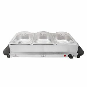 200W COMPACT BUFFET SERVER & WARMING TRAY ELECTRIC FOOD WARMER HOT PLATE