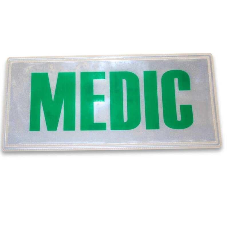 Large Green Reflective Medic Badge