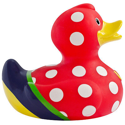 Bud Sunday Best Delux Designer Red Polka Dot Bath Duck Kitsch Retro /UK