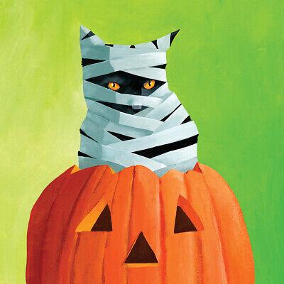 ettentechnik Mummy Cat Halloween Katze Kürbis ppd, 33x33 (Kürbisse Halloween-katze)