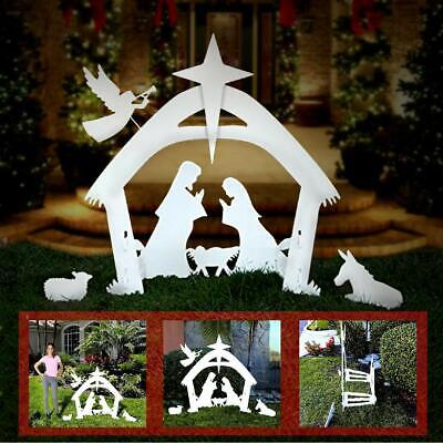 EasyGo 4' Tall Beautiful Outdoor Christmas Nativity Scene Yard Decoration Set! ()