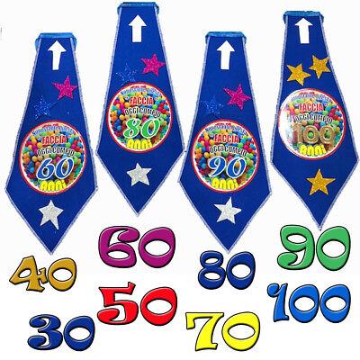 Birthday 30-40-50-60-70-80-90-100 years tie felt celebrations - 80 Years Birthday Celebration