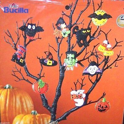 Bucilla Halloween Ornament Felt Kit Pumpkin, Candy, Ghost, Witch, Hat, - Halloween Felt Craft Kits