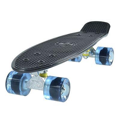 Land Surfer Cruiser Skate 55.9cm Negro Tabla Azul Transparente Ruedas Nuevo
