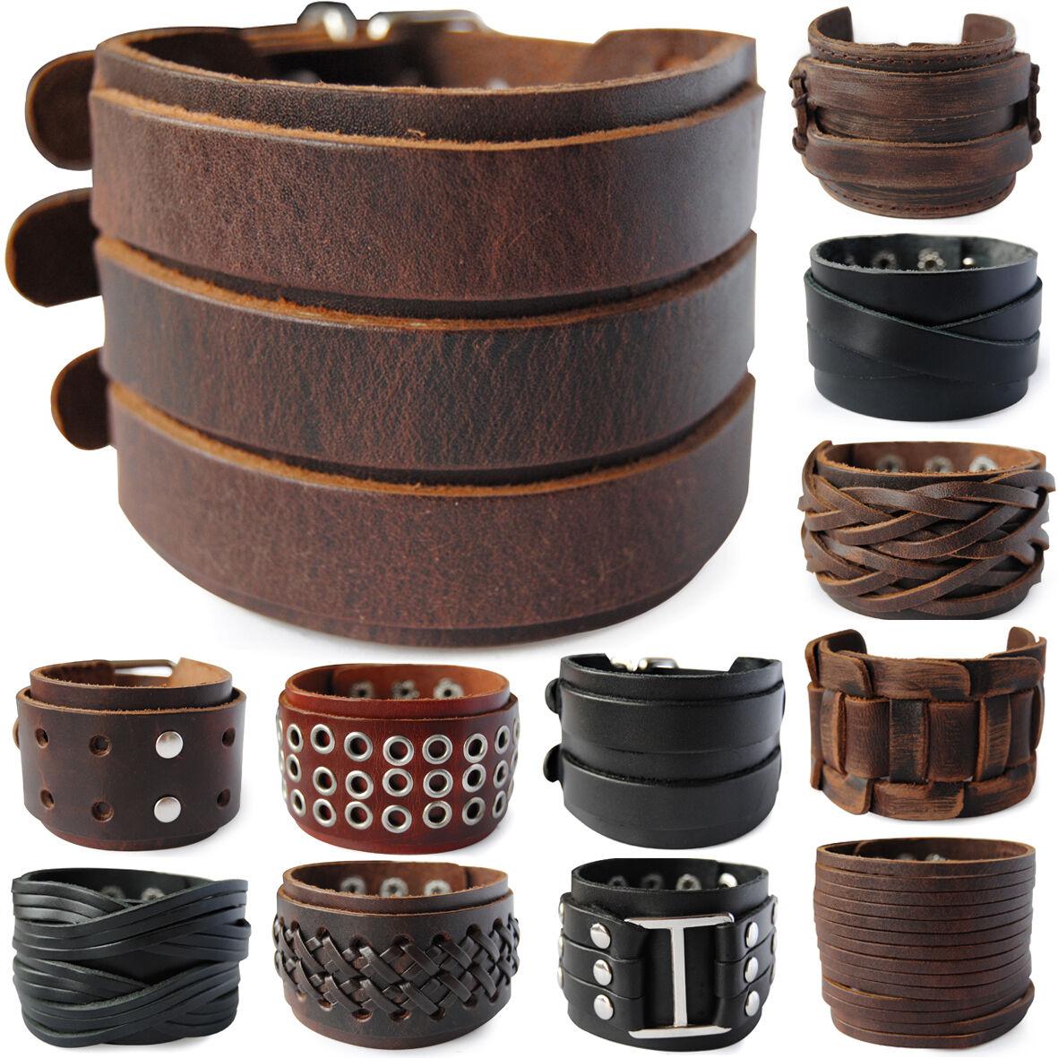 axy® LEDERARMBAND-BREIT Surferarmband !Bracelet Leather Armband Herren