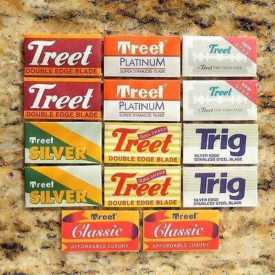 14 Treet Trig Double Edge Razor Blade Sampler Treet Double Edge