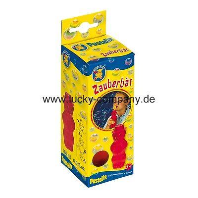 6x PUSTEFIX  Seifenblasen ZAUBERBÄR  in gelb, rot und blau 869-525  *FREI HAUS*