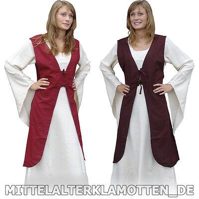 Mittelalterkleid Über Kleid Mittelalter Burg Frauen Fräulein Kleid Larp, S-XXXL
