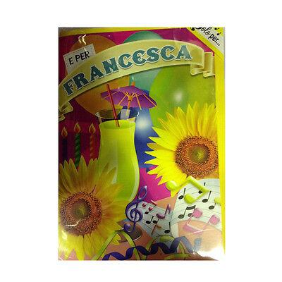 Geburtstag Singt (Karte musical geburtstag generika singt nome FRANCESCA und VIELE GRÜße A TE)