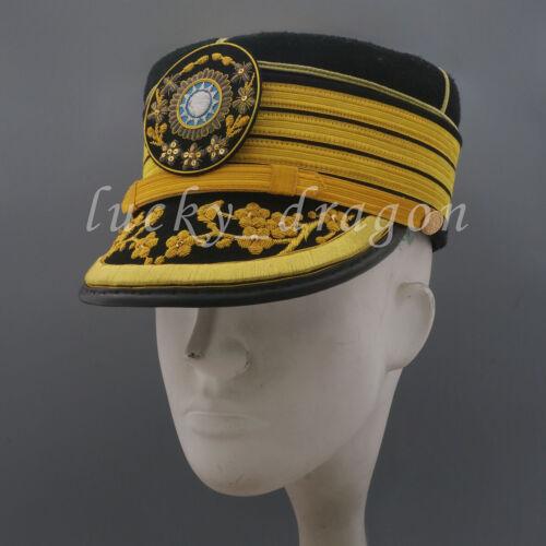 Replica Ww2 China Generalissimo Chiang Kai-shek Solemn Dress visor hat