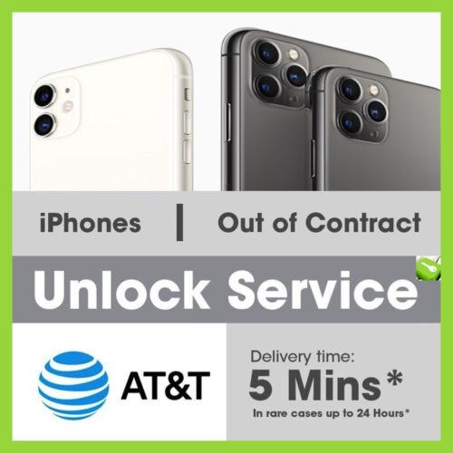 Factory Premium Unlock Service AT&T for iPhone 11 11 PRO XS XS Max XR X 8 7 ATT