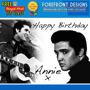 Personalised Elvis Presley Birthday Greeting Card A5