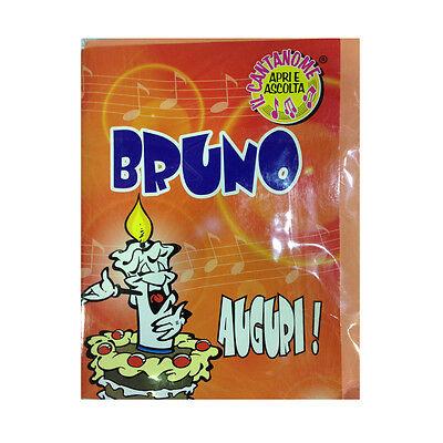 Geburtstag Singt (Geburtstag Karte Musical singt Nome bruno und viele Grüße für Sie)
