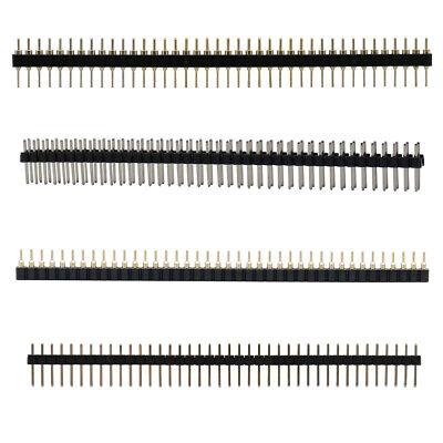 50pcs Roundsquare Head Dip 40pin Straight Pin Header Strip Pitch 2.54mm