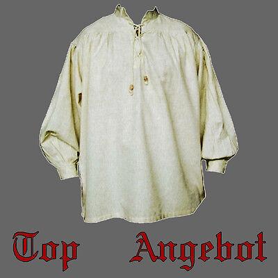 Mittelalterhemd, in 6 FARBEN, XXXS - XXXXL, Mittelalter Hemd Piratenhemd, Gewand