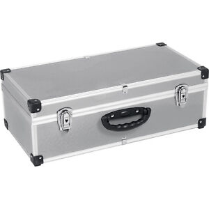 80 CD Aluminium Flight Carry Case Metal Lockable Tool Storage Electrician Box