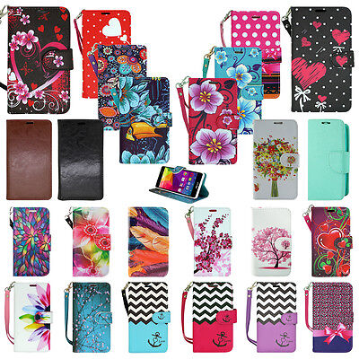 For BLU Studio Phone - Flip Card PU Leather Wallet Case Hybrid Folio Pouch Cover (Phone Wallet For Blu Studio Phone)