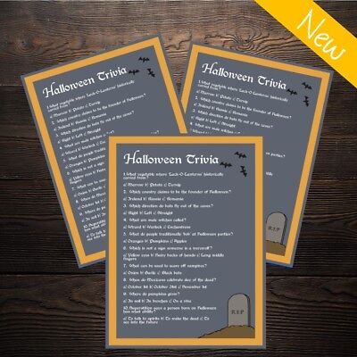 Halloween Trivia Quiz - Spooky Kids or Adults Party Game - 10 Player!