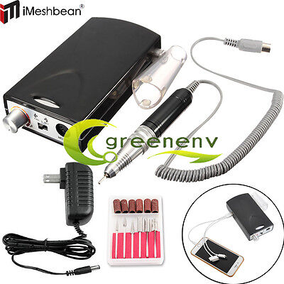 Rechargeable Electric Nail File Drill Bit Manicure Pedicure Machine Tool Set Kit