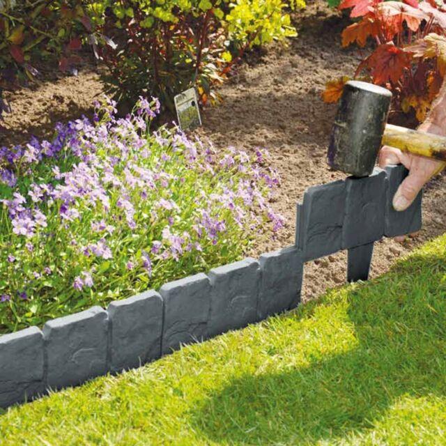 5m Lakeland Cobbled Stone Effect Plastic Garden Edging Border
