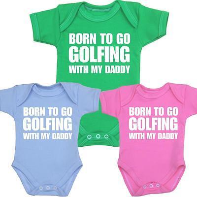 babyprem vêtements de bébé GOLF Daddy Combinaison une seule pièce Gilet douche
