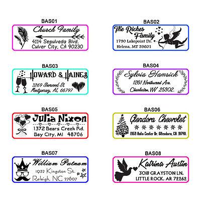 personalized self inking family business return address rubber stamp custom logo