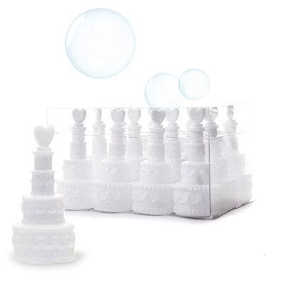 N.48 Ampollas Para Bolle De Jabon Bubbles Tarta Boda Partido Matrimonio Fiesta