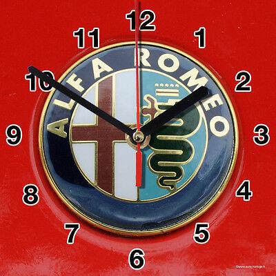 HORLOGE MURALE Logo Alfa Romeo -01M