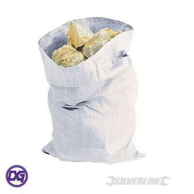 Heavy Duty White Woven Rubble Sacks 70gsm 660 x 660mm  Pack of 10