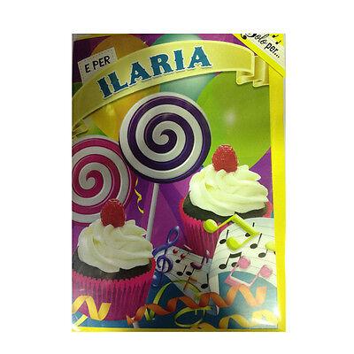 Geburtstag Singt (Karte Musical Geburtstag Generika singt Nome Ilaria und viele Grüße für Sie)