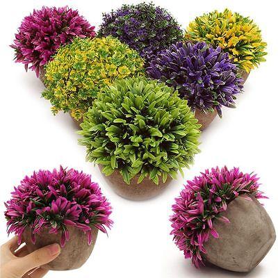 Artificial Topiary Tree Ball Plants Pot Garden Office Home Decor Outdoor Indoor