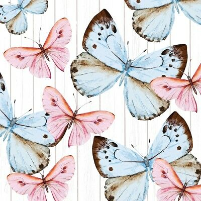 4 Lunch Paper Napkins for Decoupage Craft Vintage Napkin Butterfly Dream