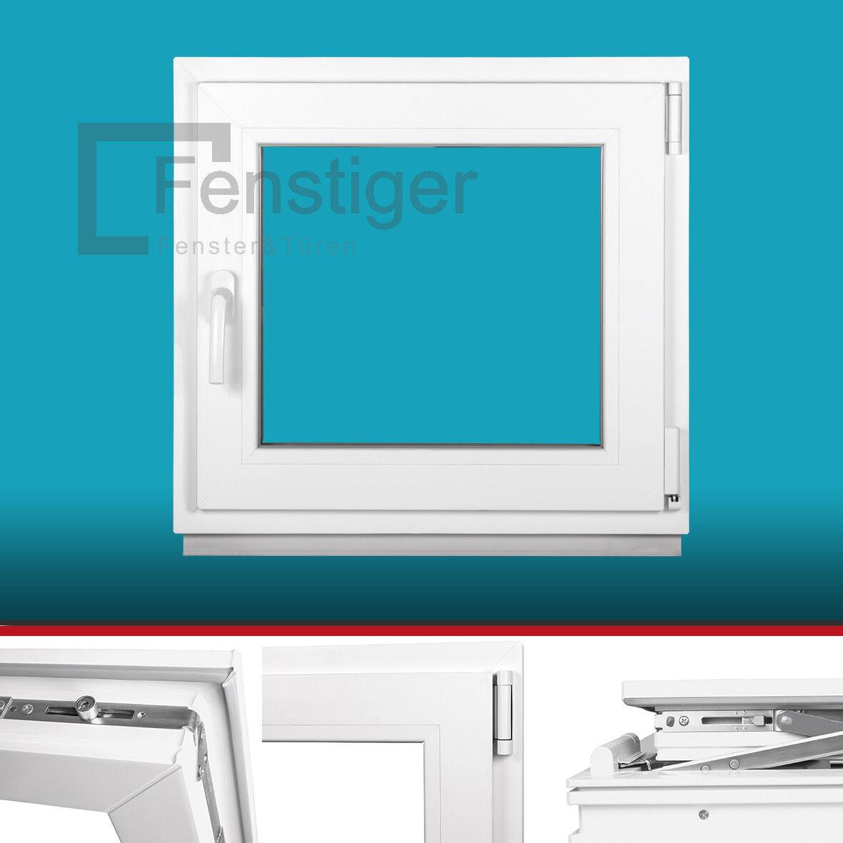 Kellerfenster Fenster Kunststoff - 2 fach Verglasung - Dreh Kipp - Premium