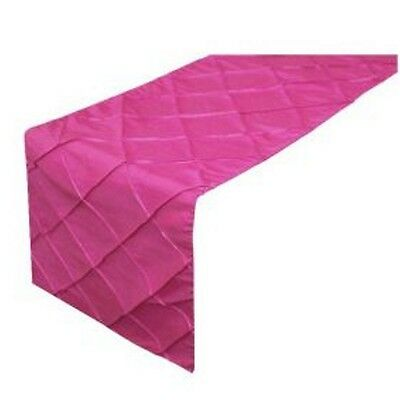 Fuchsia Pink Pintuck Table Runners