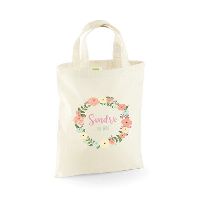 Personalised Wedding Party Bridal, Flower Girl, Bridesmaid Favour Gift Bags - Bridesmaid Gift Bags